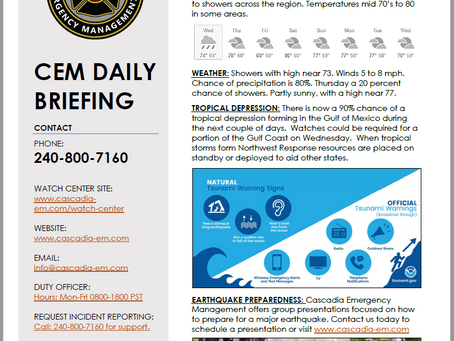 CEM Daily Briefing | 10JUL19