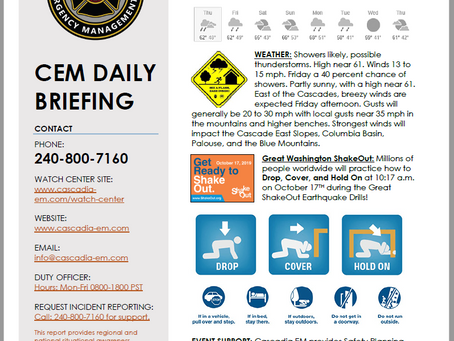 CEM Daily Briefing | 03OCT19