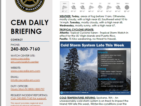 CEM Daily Briefing | 23SEP19