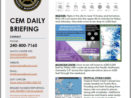 CEM Daily Briefing | 25SEP19