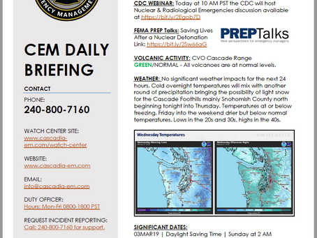 CEM Daily Briefing