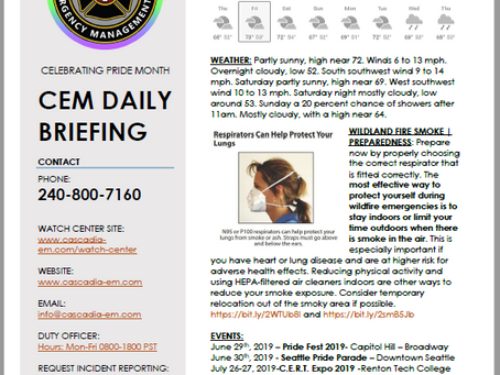 CEM Daily Briefing | 21JUN19