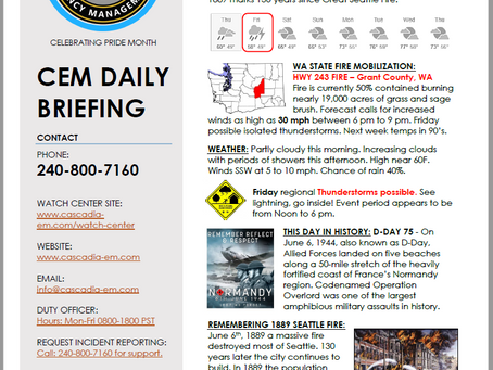 CEM Daily Briefing   06JUN19