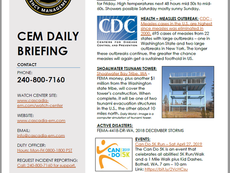 CEM Daily Briefing | 25APR19
