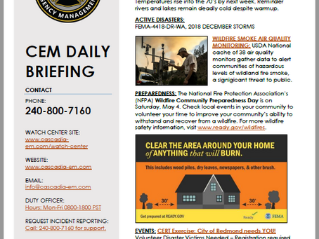 CEM Daily Briefing | 03MAY19