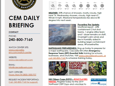CEM Daily Briefing | 16JUL19