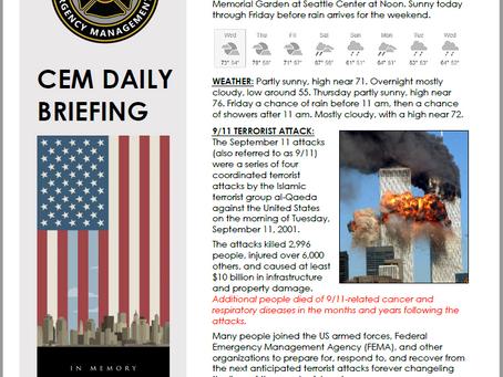 CEM Daily Briefing | 11SEP19
