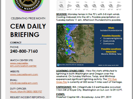 CEM Daily Briefing | 17JUN19