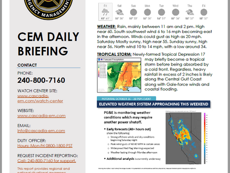 CEM Daily Briefing | 24 OCT19