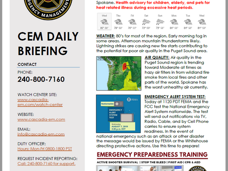 CEM Daily Briefing   07AUG19