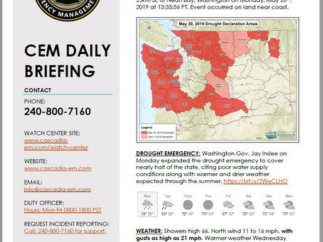 CEM Daily Briefing | 21MAY19