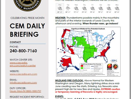 CEM Daily Briefing | 01JUL19