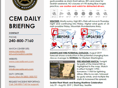 CEM Daily Briefing | 10 AUG19