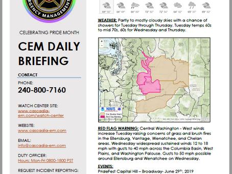 CEM Daily Briefing | 18JUN19