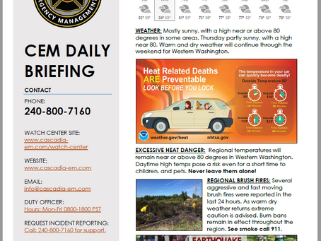 CEM Daily Briefing | 14AUG19