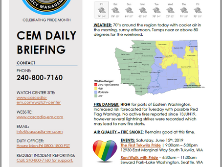 CEM Daily Briefing | 14JUN19