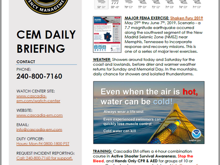 CEM Daily Briefing | 24MAY19