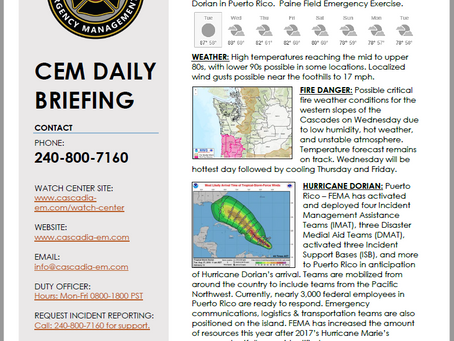CEM Daily Briefing | 27AUG19