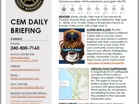 CEM Daily Briefing | 02OCT19