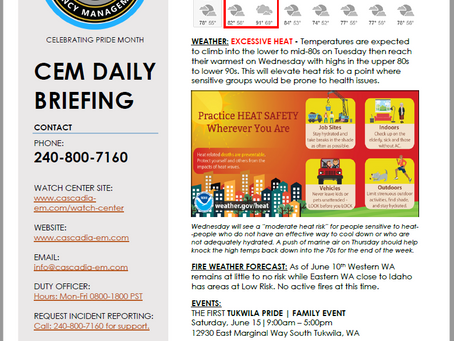 CEM Daily Briefing | 10JUN19