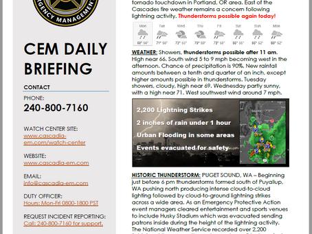 CEM Daily Briefing | 09SEP19