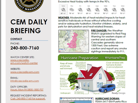 CEM Daily Briefing | 28AUG19