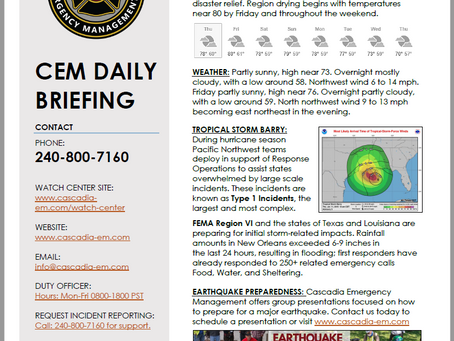 CEM Daily Briefing | 11JUL19