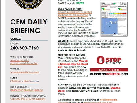CEM Daily Briefing | 23MAY19