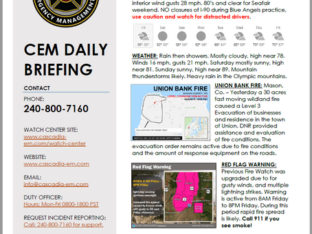 CEM Daily Briefing | 02AUG19