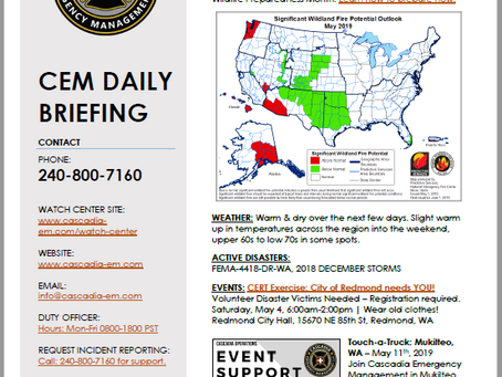CEM Daily Briefing | 02MAY19