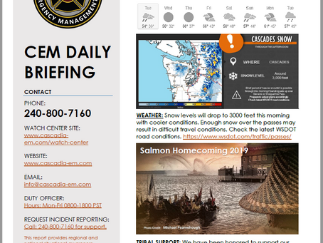 CEM Daily Briefing | 08OCT19