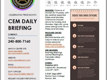 CEM Daily Briefing | 20JUN19