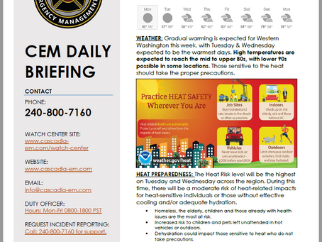 CEM Daily Briefing | 26AUG19