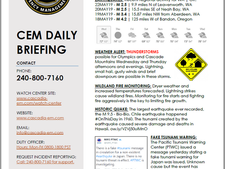 CEM Daily Briefing | 22MAY19