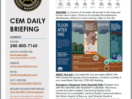 CEM Daily Briefing | 18SEP19