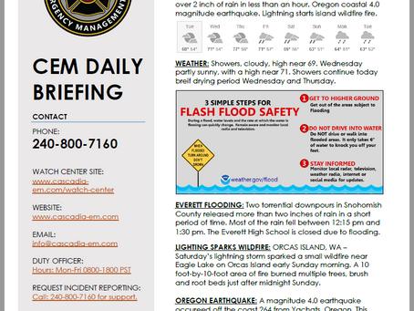 CEM Daily Briefing | 10SEP19