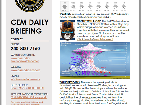 CEM Daily Briefing | 01OCT19