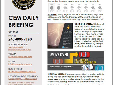 CEM Daily Briefing | 30SEP19