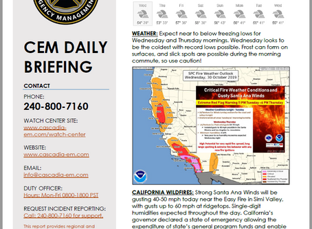 CEM Daily Briefing | 30OCT19