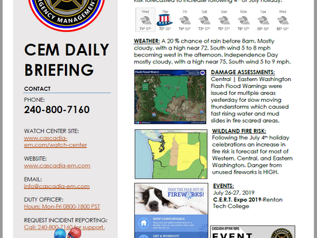 CEM Daily Briefing | 03JUL19