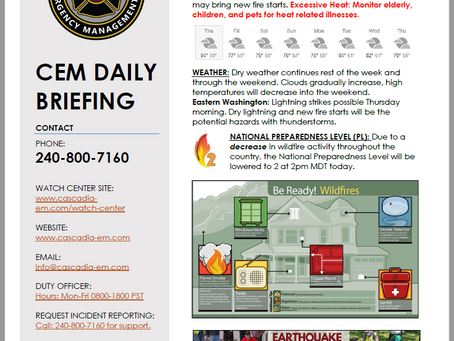 CEM Daily Briefing | 15AUG19