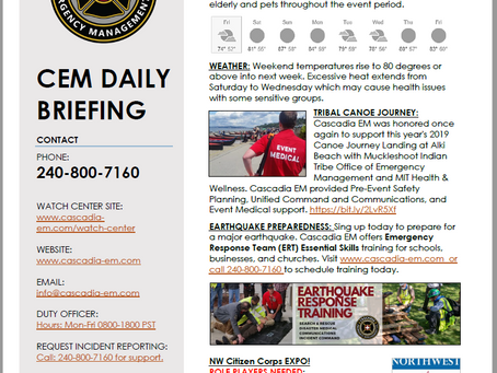 CEM Daily Briefing | 19JUL19