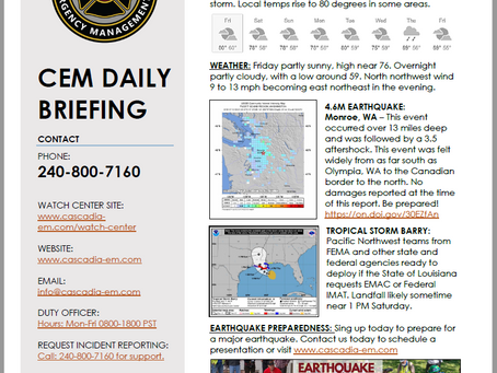 CEM Daily Briefing | 12JUL19
