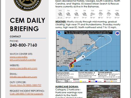 CEM Daily Briefing   04SEP19