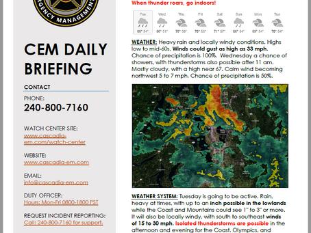CEM Daily Briefing | 17SEP19