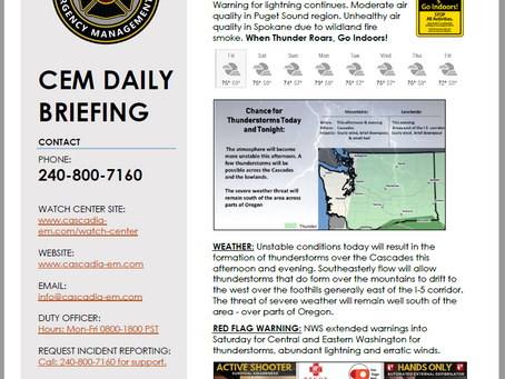 CEM Daily Briefing | 09AUG19