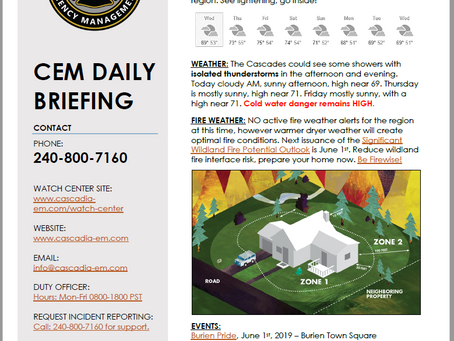 CEM Daily Briefing | 29MAY19
