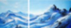 Kristallgebirge 2017 Acryl auf Leinwand
