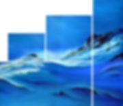 Schneerieseln am Anstieg Blue Deborah Kr