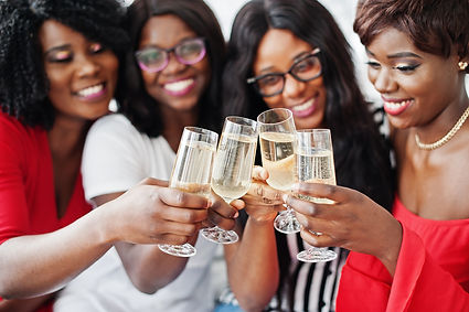 bigstock-Group-Of-Partying-African-Girl-